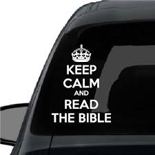 Keep Calm And Read The Bible Vinyl Wall Decal Car Sticker Walls2lifedecals
