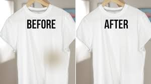 how to remove oil sns from clothing