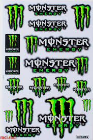 Green Monster Energy Claws Sticker Decal Supercross By Raciraci 6 50 Monster Energy Pegatinas Calcomanias