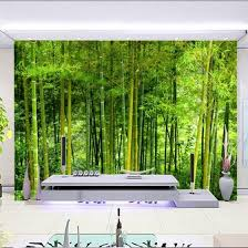 Shop Latest High Quality Bamboo Wall Paper Living Room Tv Sofa Backdrop Wall Mural 3d Nature Landscape Home Decor Papel De Parede 3d Online From Best Wall Stickers Murals On Jd Com