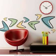 Atomic Boomerangs 50s Style Wall Decals Set Of 12 Large At Retro Planet
