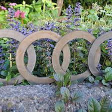 garden edging rings by theropod metal