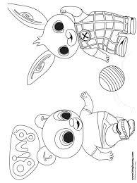 Kids N Fun Kleurplaat Bing Bunny Pando Bing