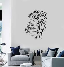 Vinyl Wall Decal Lion Mane Head Animal Tribal Art Decor Room Stickers Wallstickers4you