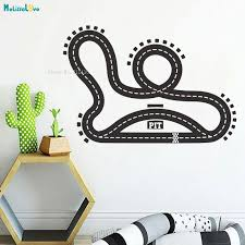 Road Wall Decal Street Race Track Cars Home Decor For Kids Baby Room Nursery Selfadhesive New Design Art Poster Yt2951 Wall Stickers Aliexpress