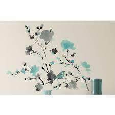 Ebern Designs Blossom Watercolor Bird Branch Wall Decal Reviews Wayfair