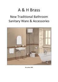 traditional bathroom sanitaryware by a
