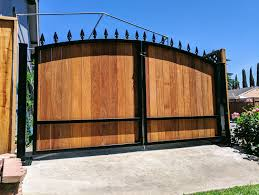 Wooden Driveway Gate Kit Arched Wrought Iron Ironwood Etsy Wooden Gates Driveway Wood Gates Driveway Driveway Gate