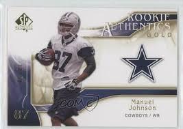 2009 SP Authentic Authentics Gold /50 Manuel Johnson #233 Rookie | eBay