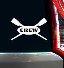 Crew Rowing Car Window Decal