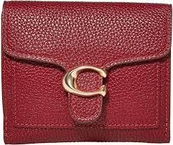 polished pebble leather slim wallet