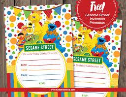 Sesame Street Free Printable Invitation Plaza Sesamo Invitaciones