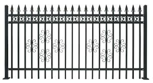 Antique Brass Color Wrought Iron Fence Residential Place Fence Panels Model Dk003 Of Anjufence