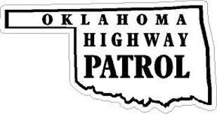 Oklahoma Highway Patrol Reflective Vinyl Decal Sticker Police Etsy