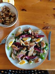 Smoked mackerel and beetroot salad with ...