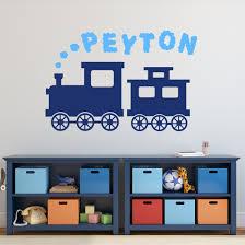 Custom Name Wall Decal Train Smoke Cloud Kids Playroom Or Etsy