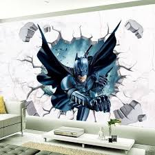 Batman 3d The Avengers Art Vinyl Break Wall Stickers Decals Baby Kids Room Decor Zb Wish