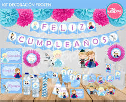 Be Happy Kit Imprimible Frozen Gratis