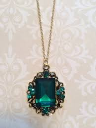 stone necklace large green