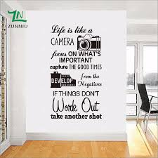 Wall Decor Baby Wall Decal Sticker Art Mural Home Decor Life Is Like A Camera For Bedroom Living Room Kids Room Baby Nursery