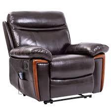boyel living brown manually recliner pu