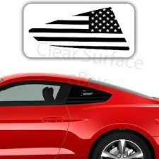Precut Quarter Window American Flag Decal Fits Ford Mustang 2015 2020 Flat Matte 19 95 Picclick
