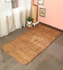 Buy Brown Plain Solids Pattern Hand Woven Bamboo Silk Carpet 6 x 4 ...