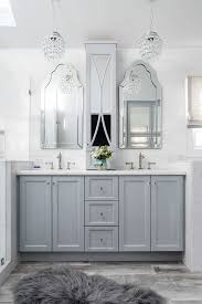 new york white mirrored buffet bathroom