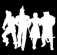 Wizard Of Oz Vinyl Decal Sticker Car Window Wall Dorothy Scarecrow Lion White For Sale Online