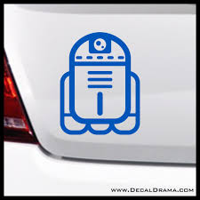 Baby Droid R2d2 Chibi Star Wars Inspired Fan Art Vinyl Wall Decal Decal Drama