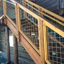 Welded Mesh Stair Fence Rail Panels By Wild Hog Railing Decksdirect