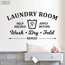 Stizzy Wall Decal Laundry Room Rules Art Decals Wall Stickers Wash Dry Fold Interior Art Window Decor Home Bathroom Poster B259 Wall Stickers Aliexpress