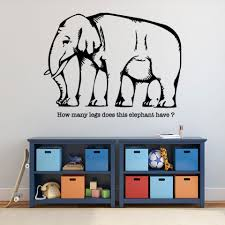 Visual Illusion Elephant Wall Decal Style And Apply