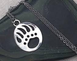 silver bear paw necklace bear claw