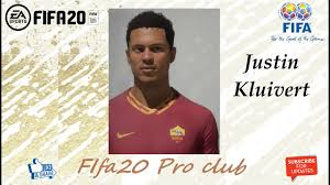 FIFA 20 Justin Kluivert Look alike in Roma // Fifa20 Pro club - YouTube