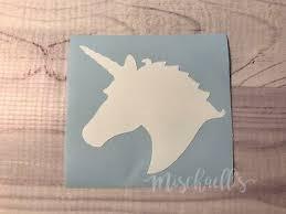 Unicorn Decal Monogram Unicorn Car Decal Yeti Decal Vinyl Sticker M1044 Ebay