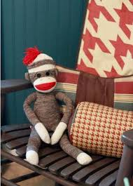 sock monkey baby bedding and nursery decor