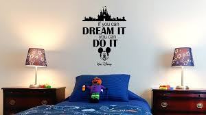 Mickey Mouse Head And Walt Disney World Castle Quote Wall Sticker Wall Decals And Art