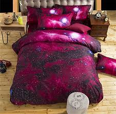 red galaxy 3d bedding sets queen twin