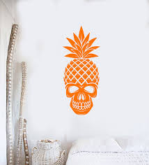 Vinyl Wall Decal Skull Pineapple Tropical Art Home Interior Decor Stic Wallstickers4you