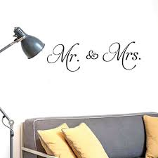 Us Mr Mrs Wall Sticker For Bedroom Home Decor Removable Decal For Sale Online