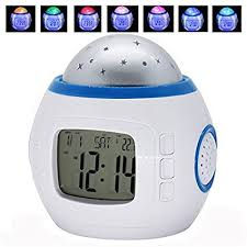 Amazon Com Projection Alarm Clocks For Kids Music Star Sky Clock Bedroom Home Bedside Living Room Children Snooze With Led Backlight Colorful Health Personal Care