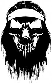 Beard Skull Car Or Truck Window Decal Sticker Rad Dezigns