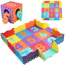 Amazon Com Stillcool Baby Play Mat With Fence 0 39 Inch Thick Interlocking Foam Floor Tiles Kids Puzzle Mat Baby Crawling Mat Toys Games