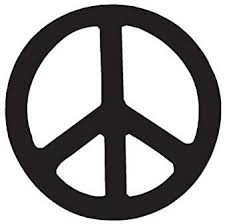 Amazon Com Peace Sign Vinyl Decal Sticker 12 X 12 Black Home Improvement