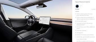 tesla model 3 standard interior options