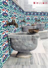 Kitchen Bathroom Turkish Tile Wall Decals Single Design Pattern With Border 44 Pcs Tile Bathroom Bathroom Wall Tile Turkish Tiles