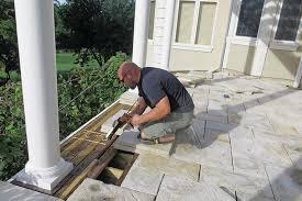 stone paver deck professional deck