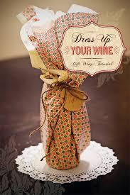diy tutorial wine packaging gift wrap