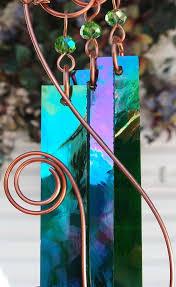 wind chimes copper garden art sculpture